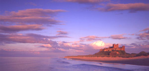 Bamburgh Castle at Dusk - Photograph courtesy of David Tarn, Landscape Photographer